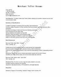 Bank Teller Resume Objective Fresh 20 Resume For Bank Teller