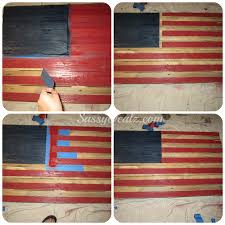 ling tape off the american flag wood pallet