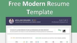 Free Modern Resume To Download Modern Resume Templates Free Download