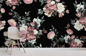 vintage pink and cream dark fl room wall