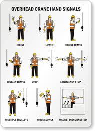Crane Safety Hand Signals