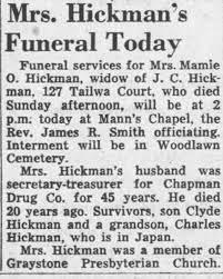 Obituary for Mamie O Hickman - Newspapers.com