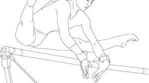 Gymnastics Coloring Book Weightlifting Gymnastics Coloring Book