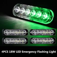 C7 Strobe Lights 1pc 6 Led Car Truck Emergency Beacon Warning Hazard Flash Strobe Light Green White
