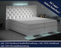 Xxxl Boxspringbett Designer Boxspring Bett Led Chesterfield Weiß