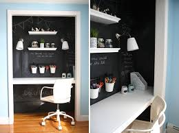 small apartment design ideas create a home office in a closet the doors