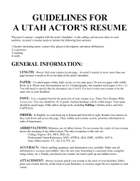 How To Make A Child Acting Resume With No Experience Acting Resume Template No Experience Childt Templates Fascinating 24