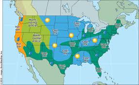 us current weather map temperatures
