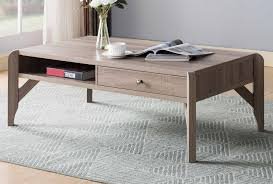 xenia dark taupe wood coffee table with