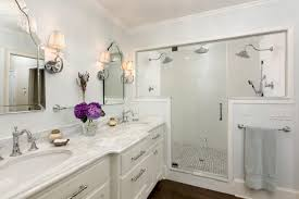 elegant traditional bathrooms. The Large Walk-in Shower In This Elegant Traditional Bathroom Features  Three Showerheads And Classic Bathrooms A