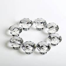 crystal furniture knobs. 8PCS Kitchen Cabinet Knobs Clear Crystal Dresser Drawer Pulls / Diamond Furniture Silver Zinc Alloy