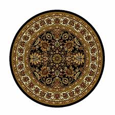 home dynamix royalty collection 8079 450 black 710 round area rug