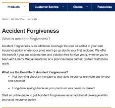 liberty mutual accident forgiveness