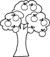 Coloring Page Full Apple Tree Coloring Good Best Free Dumbo