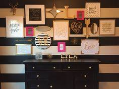 pink black white office black. love the black u0026 white stripes on wall want my office to be gold pops of hot pink