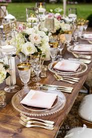 wedding round table settings backyard of emily hearn cake