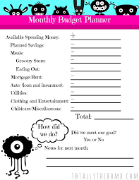 Free Printable Budget Free Printable Quick Monthly Budget Planner