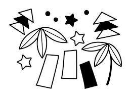 七夕飾りの白黒イラスト かわいい無料の白黒イラスト モノぽっと
