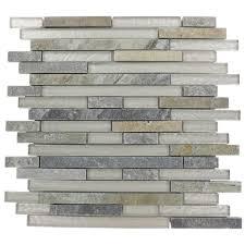splashback tile tectonic harmony green quartz slate and white 12 in x 12 in