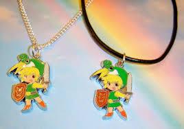 legend of zelda green link pendant character neckace boys jewellery in gift bag