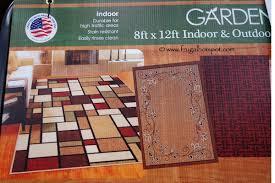 orian rugs garden collection 8 x 12 indoor outdoor area rug
