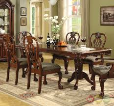 Brussels Formal Dining Room  Piece Furniture Set Traditional Dark - Traditional dining room set