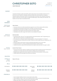 Video Resumes Samples Video Producer Resume Samples And Templates Visualcv