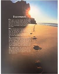 art grace love inspirational footprints poem footprints in the