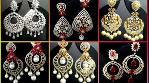 Diamond Earrings Designs Catalogue Ad Earring Design American Diamond Earrings With Price Nafees Collection