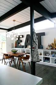love this dining room the low slung tuck perfectly under the table the