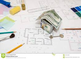 architectural drawings of houses. Download Architectural Drawings For Houses With Dollar, Paints, Brushes  Stock Photo - Image Of Architectural Drawings Houses G