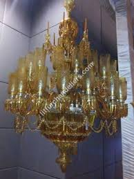 multi coloured glass chandelier