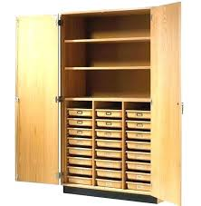 tall storage cabinet with doors cupboard wooden wood and shelves