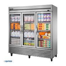 72g hc fgd01 3 glass door refrigerator