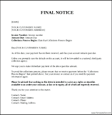 Delinquent Account Letter Template Final Accounts Template Naomijorge Co
