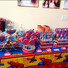 Spiderman Dessert Table Pops By Kristina Boy Birthday Parties
