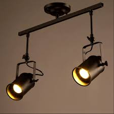 industrial track lighting systems. Loft Vintage LED Track Lights Wrought Iron Ceiling Lamps Clothing Bar Spotlight Industrial American Style Rod Spot Lighting-in Lighting From Systems S