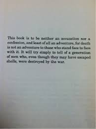 Intro To All Quiet On The Western Front By Erich Maria Remarque A Cool All Quiet On The Western Front Quotes
