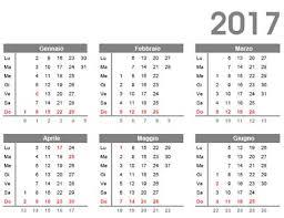 Calendario Gratis 2017 Da Scaricare