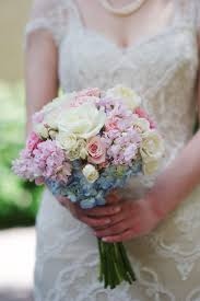 Blue Purple And Pink Wedding Bouquets Wedding Flowers Pink And