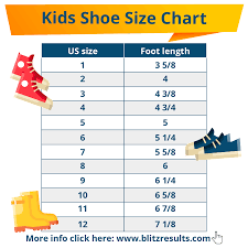 Shoe Width Chart Inches Kids Shoe Sizes Conversion Charts Size By Age How To