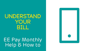 Getting Paid Monthly Your Online Ee Bill Explained Help Ee