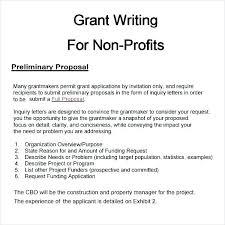 Non Profit Grant Proposal Template Building Sample Construction Work