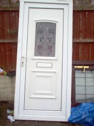 details about upvc double glazed front door with frame stained glass