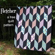 Fletcher - a FREE Chevron Quilt Pattern | Shiny Happy World & Fletcher - a free pattern for an easy Chevron Quilt from Shiny Happy World Adamdwight.com