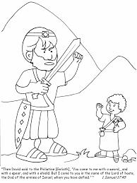 Kleurplaat Voor De Kleinsten David En Goliath Bijbel