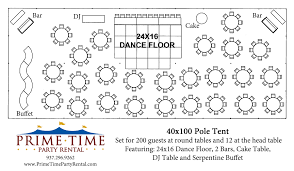 Wedding Tent Layout Before You Start Pricing Tents You Will Need
