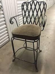 wrought iron swivel bar stools.  Swivel Image Is Loading ThreeWroughtIronSwivelCounterHeightBarStools On Wrought Iron Swivel Bar Stools A