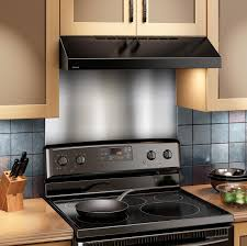 Kitchen Stainless Steel Backsplash Amazoncom Broan Sp3004 Backsplash Range Hood Wall Shield 24 By