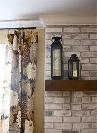 Gray Brick Fireplace The Yellow Cape Cod White Washed Brick Fireplacetutorial